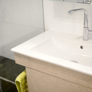Kleines Bad ganz groß! Projekt: Planung und Umgestaltung des 3,2m² Bade- und Duschbads.